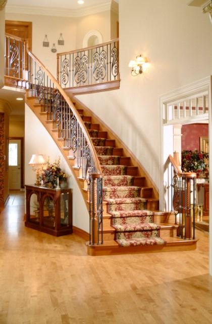 Interior Ironwork Finelli Ironworks | Wrought Iron Indoor Railing | Steel Frame Wood Deck | Metal | Glass Indoor | Victorian | Traditional