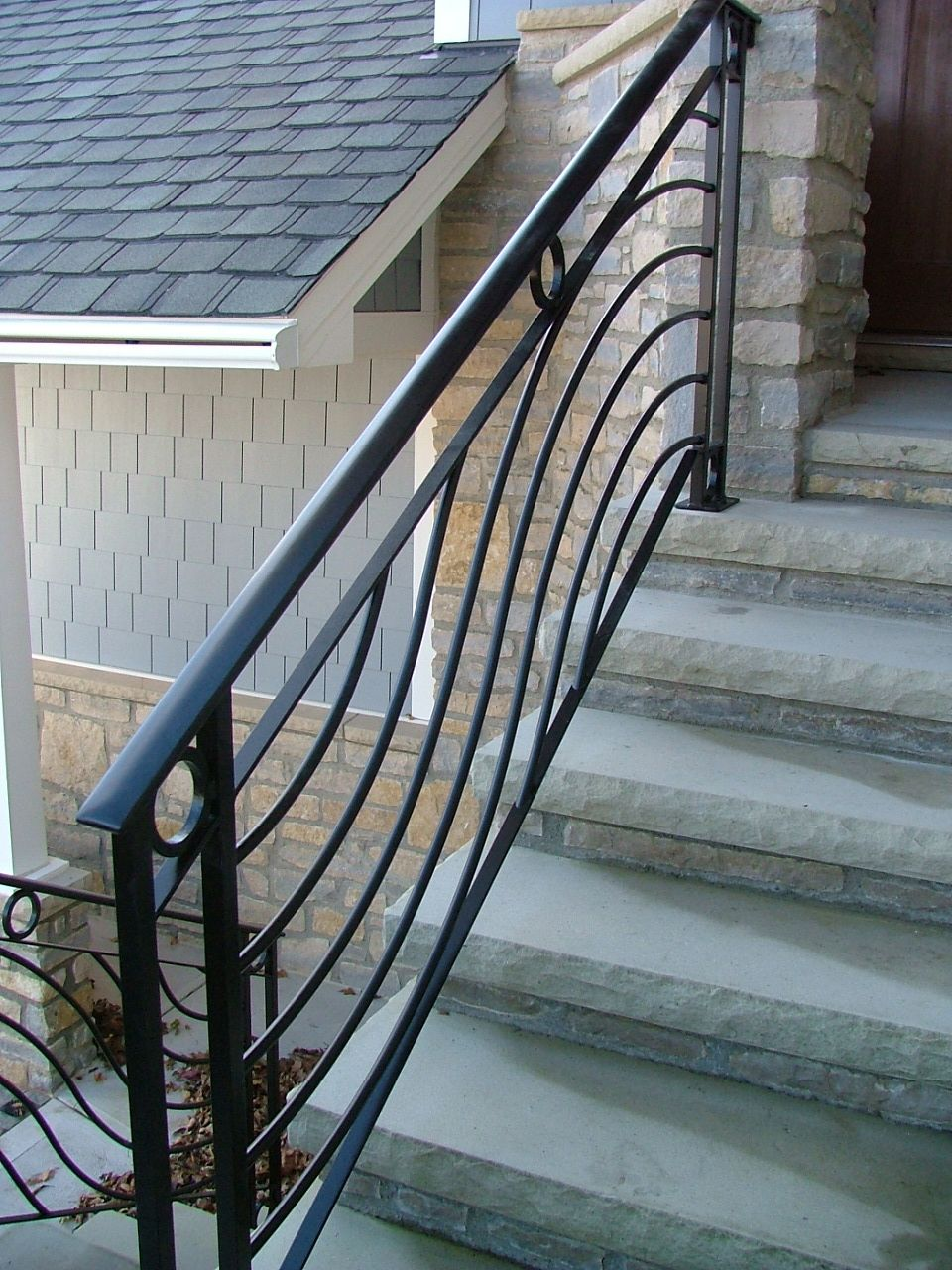 Finelli Ironworks Wave Railing With Cirlces Finelli