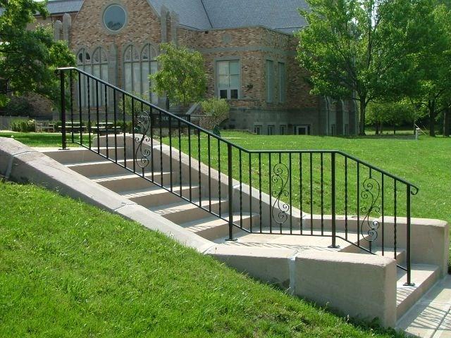 Exterior Ironwork Finelli Ironworks | Outdoor Iron Stair Railing | Garden | Flat Iron | Decorative | Deck | Rustic