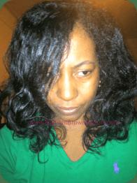 loose straightened hair