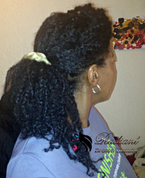 loose twists in a ponytail