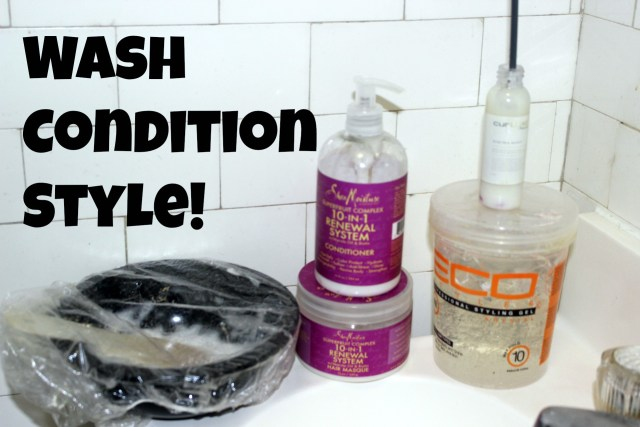 wash and style products