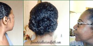 buns on fine natural hair