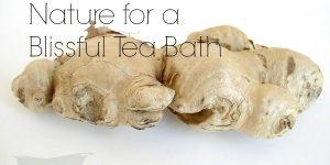 ginger tea bath