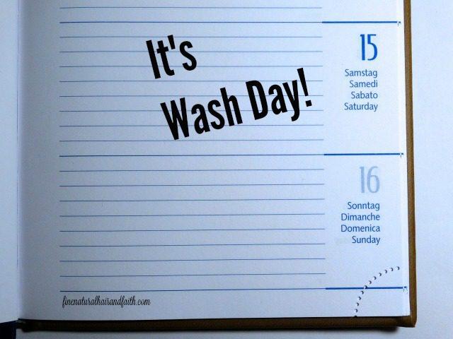 scheduling wash day