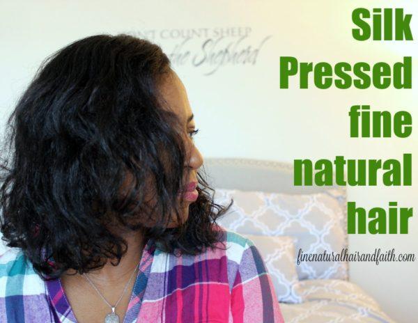 silk press and cut on fine natural hair