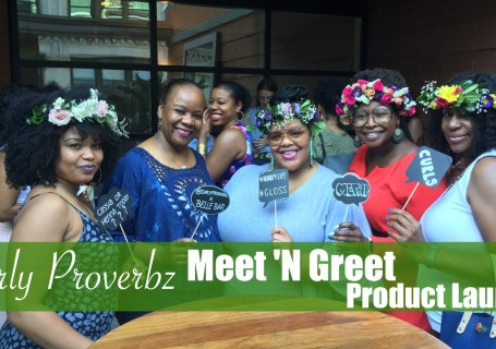 curly proverbz product launch