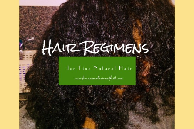 hair regimens for fine natural hair