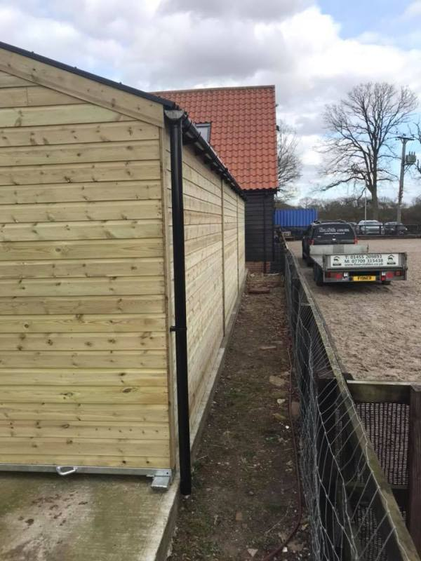 12 x 36 Stable Block Shiplap Timber Rear View