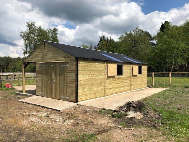 Bespoke Stable Block Rear View