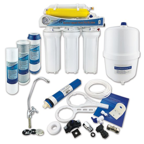 Finerfilters 6 Stage Domestic Reverse Osmosis Under Sink System With Fluoride Removal (50 GPD)