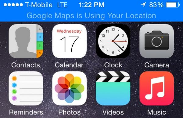iOS8 background location alert Google Maps