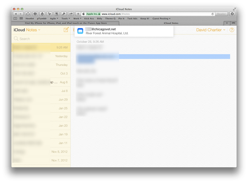 iCloud web email notifications