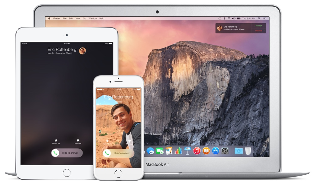 Continuity lets you answer a phone call on any Apple device