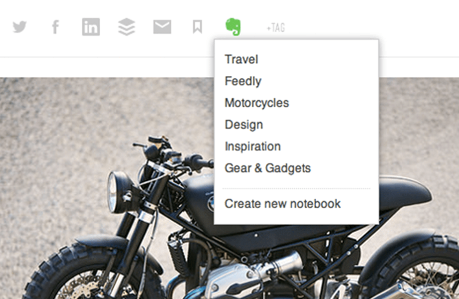 Feedly Pro Evernote notebooks
