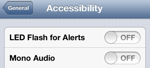 Accessibility LED flash alerts
