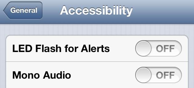 Accessibility LED flash alerts