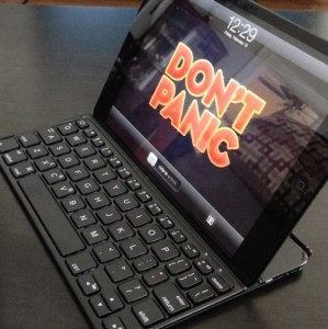 iPad keyboard thumb