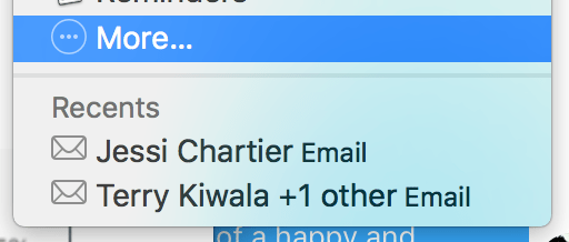 OS X makes it easy to share with your most-contacted people