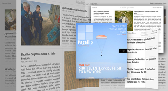 Flipboard's page flip animation created with CSS and