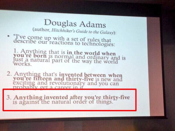 Douglas Adams rules about tech