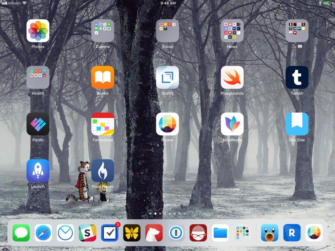 iPad homescreen 2018-02-26