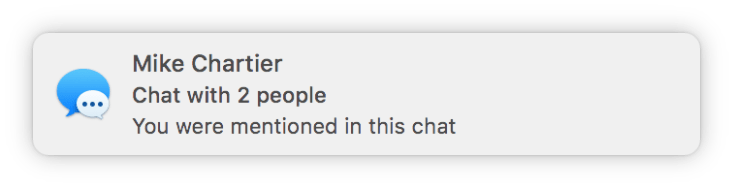 Messages you were mentioned in this chat