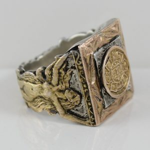 Gold and Silver Figural Ring