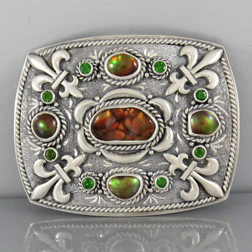 Sold: Mona Van Riper Fire Agate and Chrome Diopside  $1,200