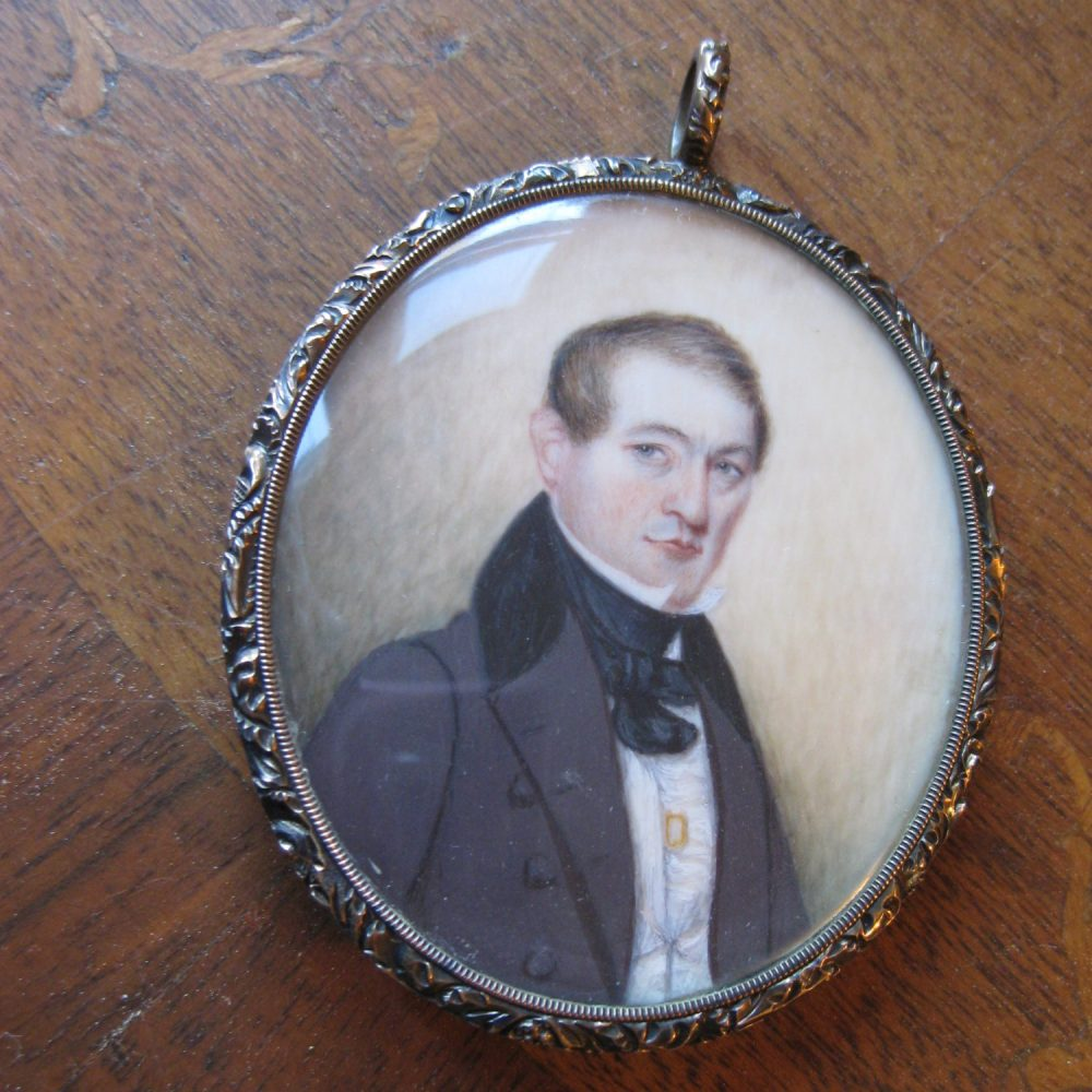 Sold: $800 Mourning Jewelry Portrait