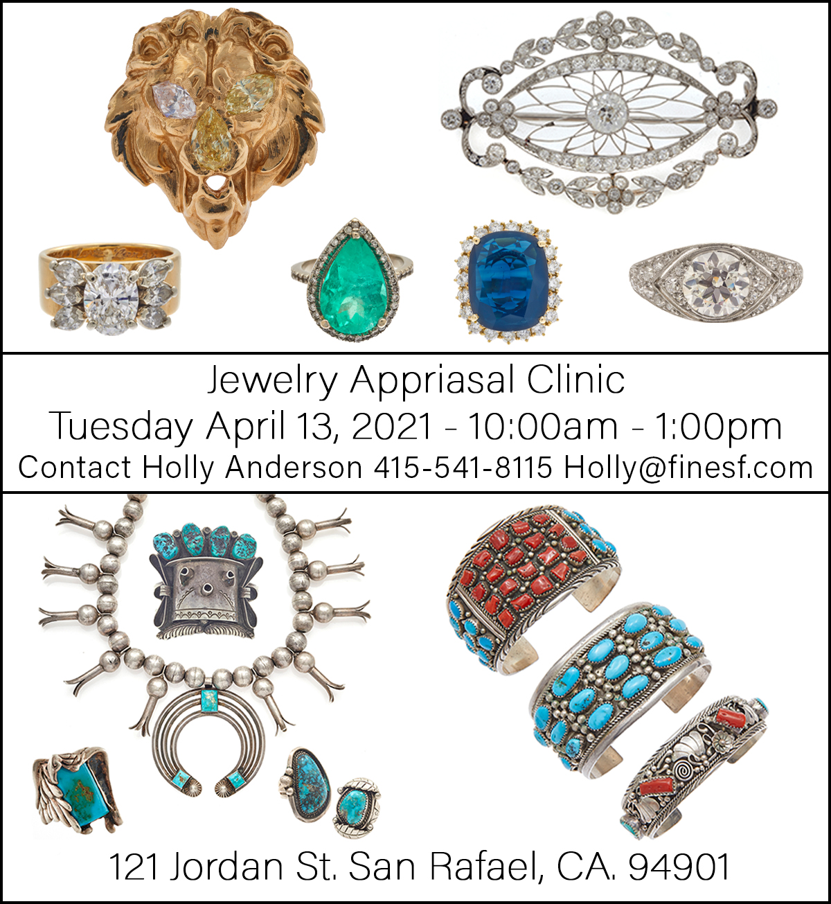 jewelry appraisal clinic april 13