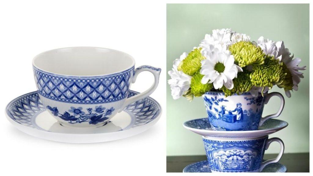 kvinnlig 50 års present: Blue Room Geranium jumbokopp från Spode