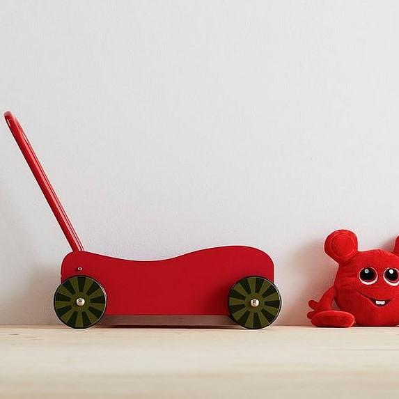 Present till 2-åring: Vagn från babblarna (gå vagn)