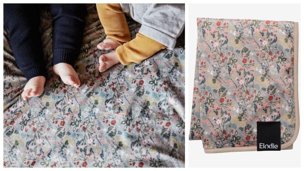 Vintage Flower perlefløyels-teppe fra Elodie Details - Gavetips til babyshower