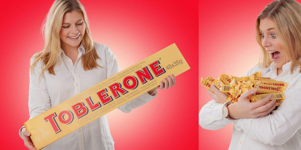Gigantisk Toblerone, studentpresent till hen som älskar choklad