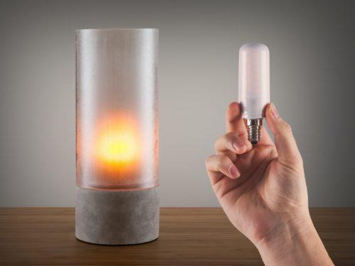 Flammende LED-pære E14-sokkel