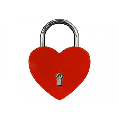 Kärlekslås Heart Red 44 mm