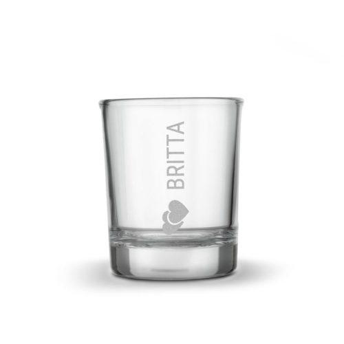 Graverat snapsglas