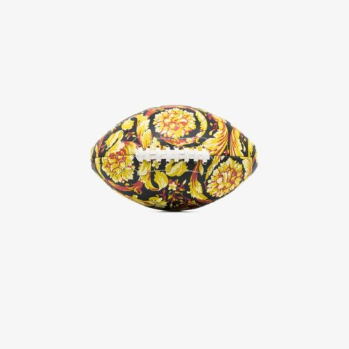 Versace Black Baroque Print Rugby Ball