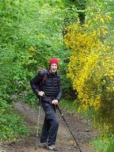 Slippery descent to Livinhac