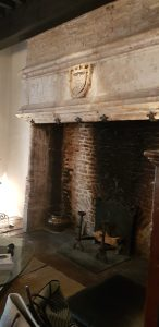 big fireplace