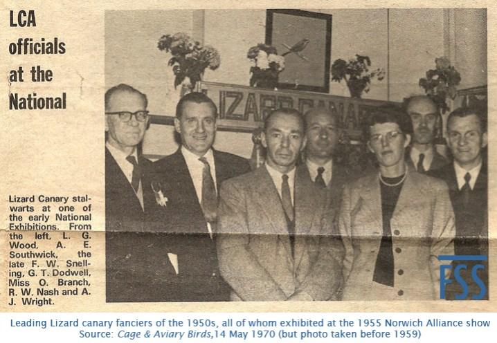 Norwich Alliance 1955 exhibitors-FSS