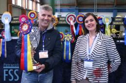 Champion Fabio Macchioni with Show Secretary Sylvia Rimondi