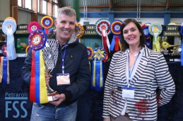 Champion Fabio Macchioni with Show Secretary Sylvia Rimondi