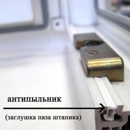 Пыльник защитная заглушка на окно ПВХ