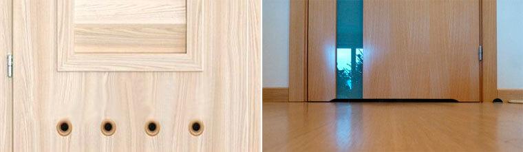 Вентиляционные отвертия в межкомнатных дверях для правильно работы вентиляции