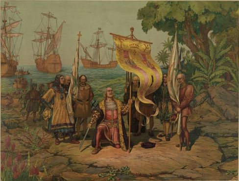 Spanish missionaries landing in Argentina