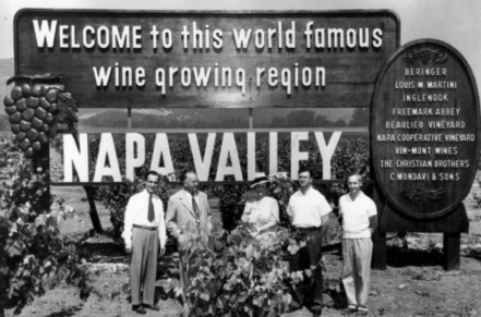 Napa Valley wine sign