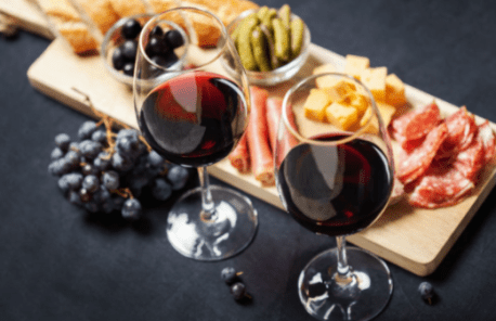 Charcuterie and wine cocktails
