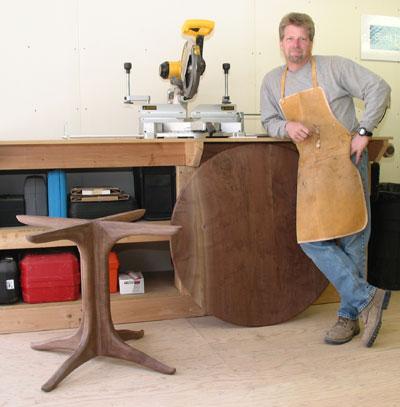 Sculpted Side Table By Fine Woodworker Scott Morrison
